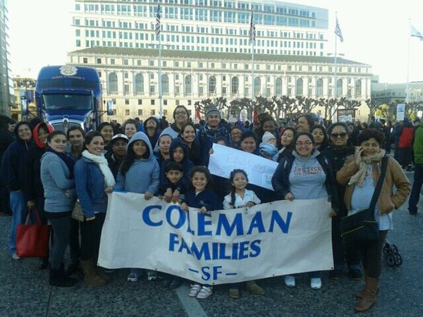 coleman families at march rally